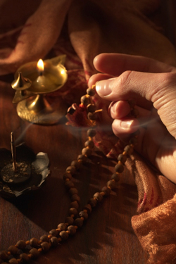 Using Mala Beads (Rosary) for Meditation